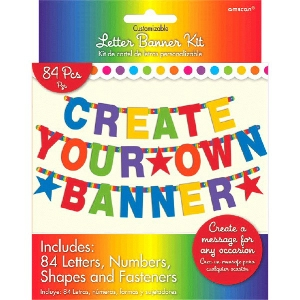 RAINBOW CUSTOM LETTER BANNER|Birthday 50 50 Factory Outlet   Party