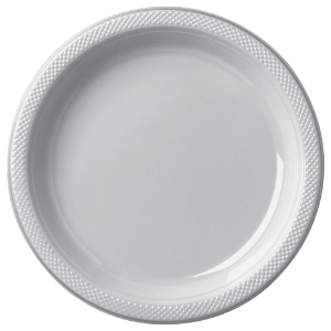 SILVER 7 INCH PLASTIC PLATES - 20 COUNT & SILVER 7 INCH PLASTIC PLATES - 20 COUNT|Party Supplies 50-50 Factory ...