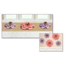 5 PACK 3-D FLOWER DECORATIONS Thumbnail