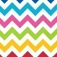 BRIGHT CHEVRON BEVERAGE NAPKINS - 36 COUNT  Thumbnail