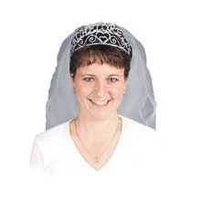 BACHELORETTE TIARA WITH VEIL Thumbnail