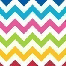 BRIGHT CHEVRON LUNCH NAPKINS - 36 COUNT  Thumbnail