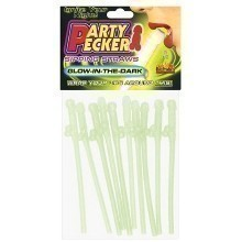 GLOW-IN-THE-DARK 8PK DICKY SIPPING STRAWS Thumbnail