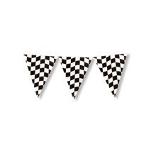 12FT BLACK & WHITE CHECKERED FLAG BANNER  Thumbnail