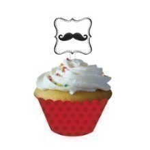 MUSTACHE MADNESS CUPCAKE WRAPS W/PICKS Thumbnail