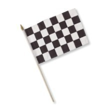 BLACK & WHITE CHECKERED RACING CLOTH FLAG Thumbnail