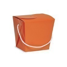 1/2 PINT PAIL / CHINESE TAKEOUT BOX - ORANGE Thumbnail
