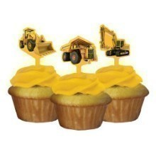 CONSTRUCTION ZONE CUPCAKE TOPPERS-12 COUNT Thumbnail