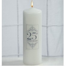 25TH ANNIVERSARY PILLAR CANDLE Thumbnail