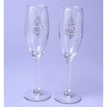25TH ANNIVERSARY TOASTING GLASSES Thumbnail