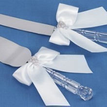 CHARMING PEARLS CAKE SERVER SET - WHITE Thumbnail