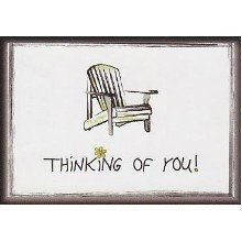 25 CT THINKING OF YOU BEACH CHAIR BLANK NOTES Thumbnail