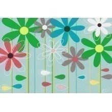 25 CT FIELD OF FLOWERS BLANK NOTECARDS Thumbnail