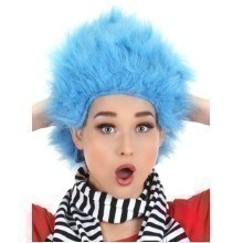 THING 1 & 2 BLUE FAUX FUR WIG Thumbnail