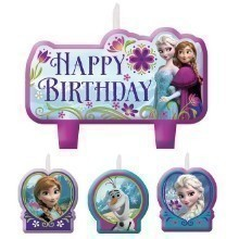 Disney's Frozen Birthday Candle Set - 4 Count Thumbnail