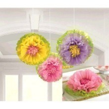 SPRING FLOWER FLUFFY DECORATIONS  Thumbnail