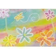 25 CT MULTICOLOR FLOWERS BLANK NOTECARDS Thumbnail