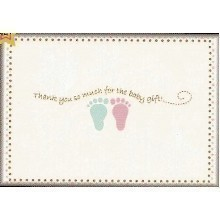 25 CT BABY FEET THANK YOU NOTES Thumbnail