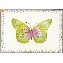 25 CT STAINED GLASS BUTTERFLY BLANK NOTECARDS Thumbnail