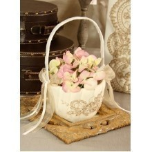 BELLA DONNA IVORY FLOWER BASKET Thumbnail