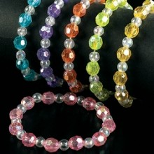 3PC IRIDESCENT BEAD BRACELETS Thumbnail