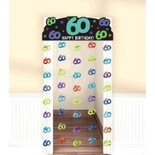 60TH BIRTHDAY FOIL DOORWAY CURTAIN  Thumbnail