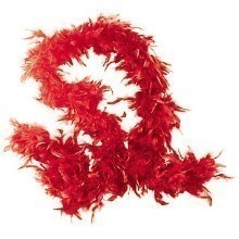 6FT RED FEATHER BOA Thumbnail