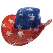 PATRIOTIC SEQUIN COWBOT HAT Thumbnail