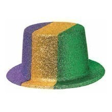 Purple/Gold/Green Glitter Top Hat Thumbnail