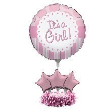 ITS A GIRL BALLOON CENTERPIECE KIT  Thumbnail