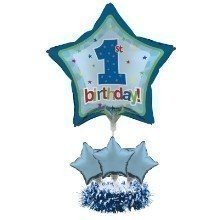 1ST BIRTHDAY BOY BALLOON CENTERPIECE KIT Thumbnail