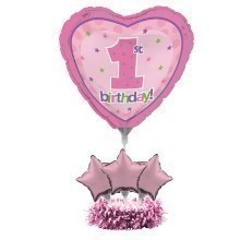 1ST BIRTHDAY GIRL BALLOON CENTERPIECE KIT Thumbnail