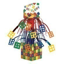 BLOCK PARTY BIRTHDAY MOBILE CENTERPIECE  Thumbnail