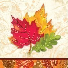 **FALL FLAIR BEVERAGE NAPKINS - 16 COUNT Thumbnail