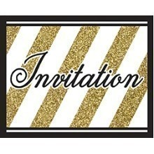 BLACK & GOLD INVITATIONS  Thumbnail