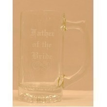 CLEAR GLASS BEER MUG - FATHER OF BRIDE Thumbnail