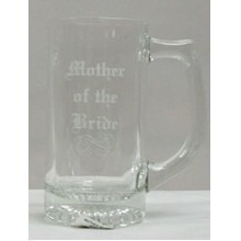 CLEAR GLASS BEER MUG - MOTHER OF BRIDE Thumbnail