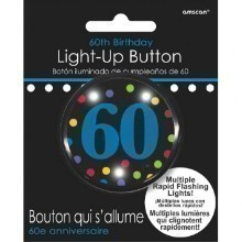 60TH BIRTHDAY FLASHING BUTTON - 2
