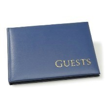ROYAL BLUE W/GOLD GUEST BOOK Thumbnail