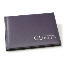 PURPLE W/SILVER GUEST BOOK Thumbnail