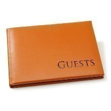 ORANGE W/BLACK GUEST BOOK Thumbnail