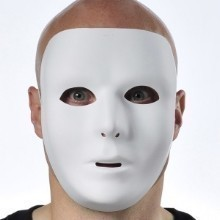 White Full Face Mask Thumbnail