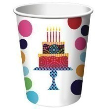 BIRTHDAY CAKE STAND 9 OZ CUPS-8 COUNT Thumbnail