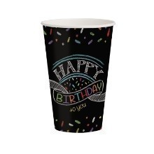 Chalk Birthday 12oz Cups - 8 Count Thumbnail