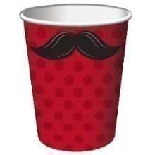 MUSTACHE MADNESS 9 OZ CUPS-8 COUNT Thumbnail