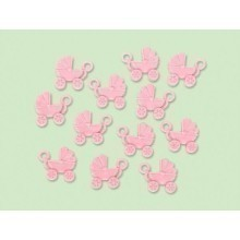 BABY CARRIAGE 12 COUNT SHOWER FAVORS - PINK Thumbnail