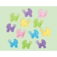 BABY CARRIAGE 12 COUNT SHOWER FAVORS - MULTI Thumbnail