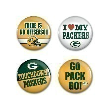 GREEN BAY PACKERS 4PK BUTTONS Thumbnail