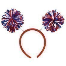 POM POM HEADBOPPER- RED, WHITE, AND BLUE Thumbnail