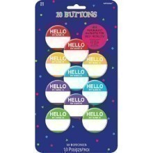 HELLO MY NAME IS MULTICOLOR BUTTONS - 10 CT Thumbnail